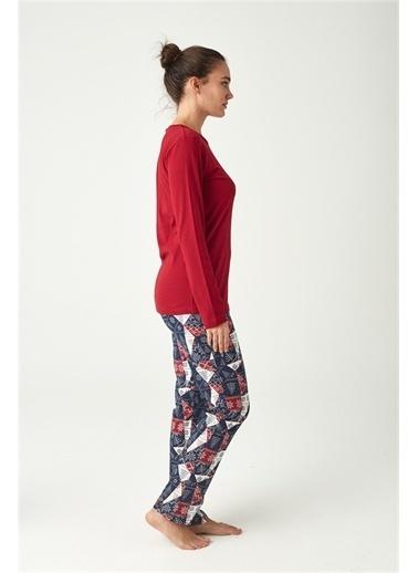 U.S. Polo Assn. Kadın Bordo Pijama Takımı Bordo